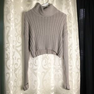 Forever 21 Crop Top Turtle Neck Sweater